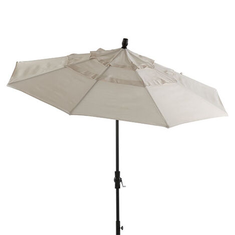 Ivory Round Market Umbrella ,  , large