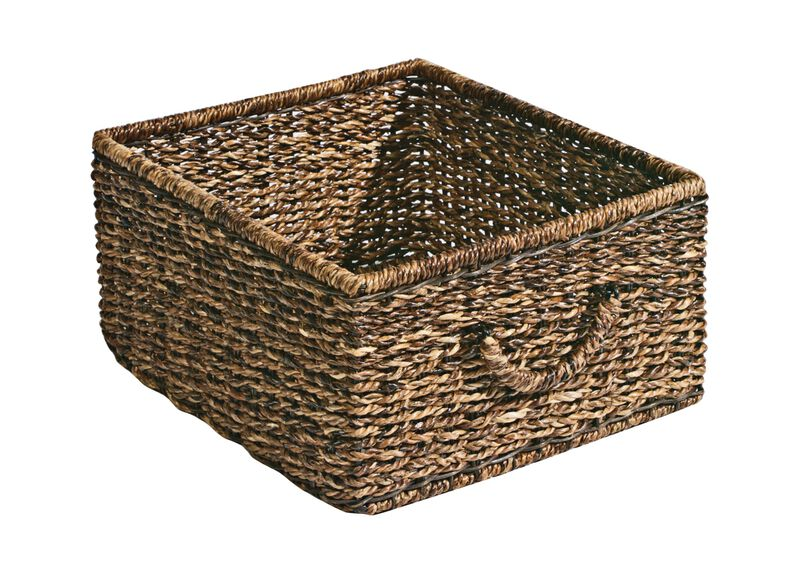 Dark Abaca Storage Basket ,  , large_gray