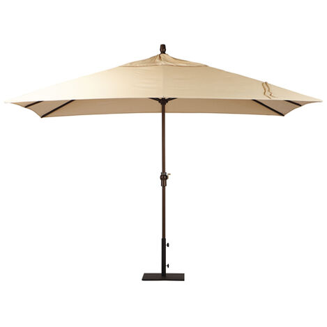 Khaki Rectangular Market Umbrella ,  , large