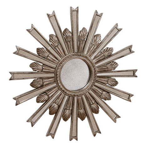 "20"" Silver Starburst Mirror ,  , large"