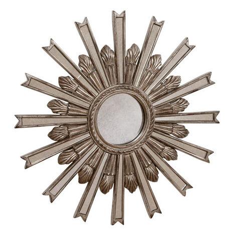 Miroir en forme d'étoile argentée 51cm ,  , large