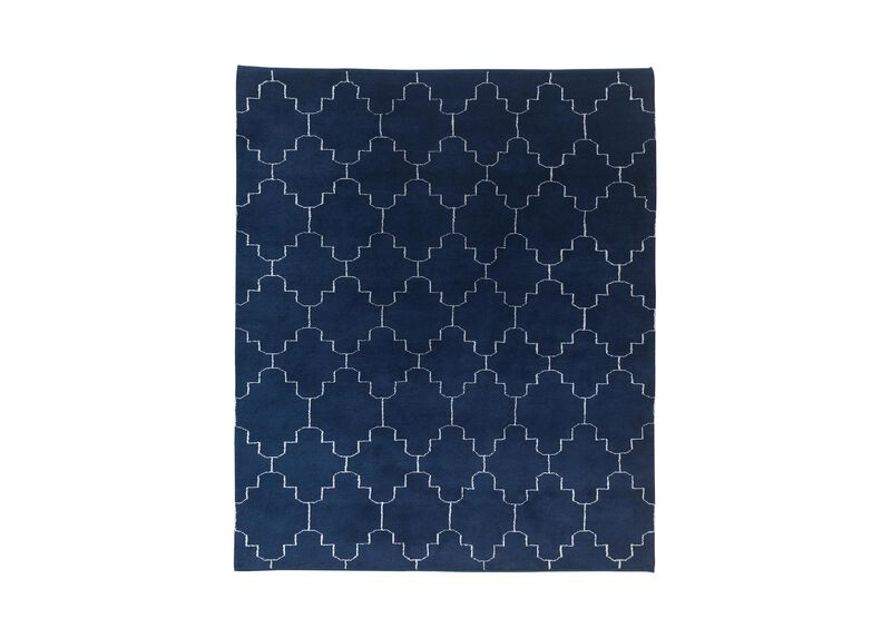 Tulu Tracery Rug, Blue/Natural ,  , large_gray