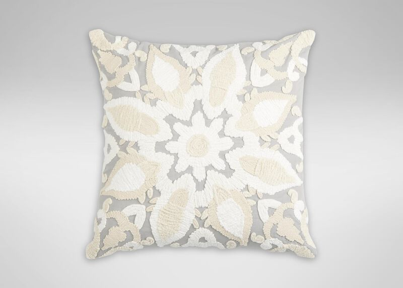 Giorgina Embroidered Medallion Pillow ,  , large_gray