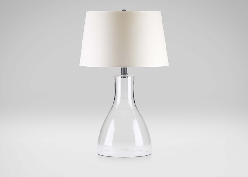 Nouveau Clear Glass Table Lamp ,  , large_gray