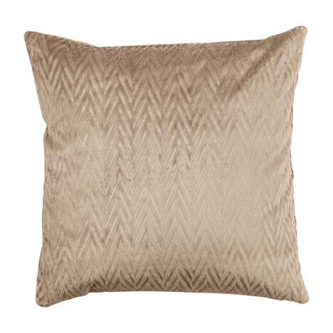 Chevron Velvet Pillow, Taupe ,  , large