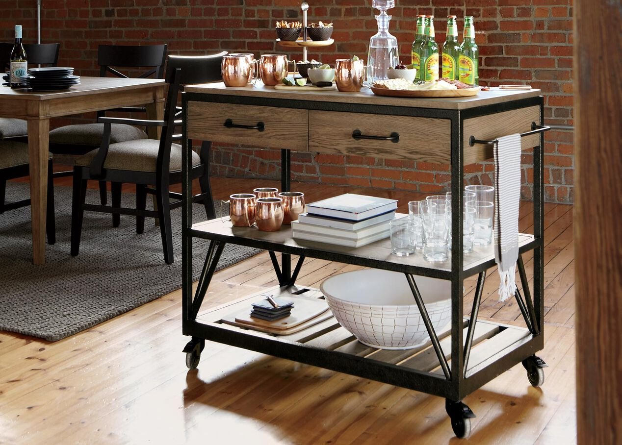 Beam serving cart buffets sideboards servers - Dining room serving carts ...