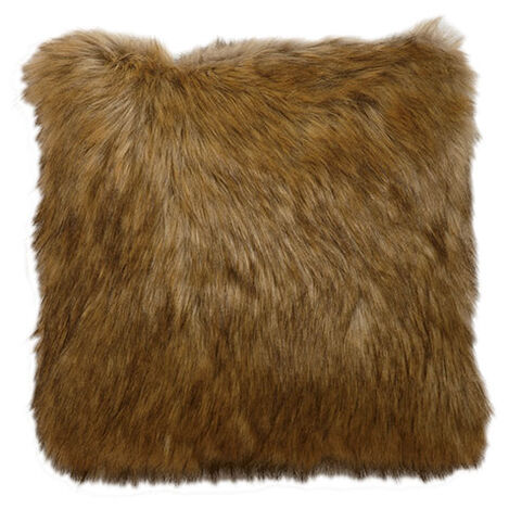 Tipped Fox Faux Fur Pillow ,  , large