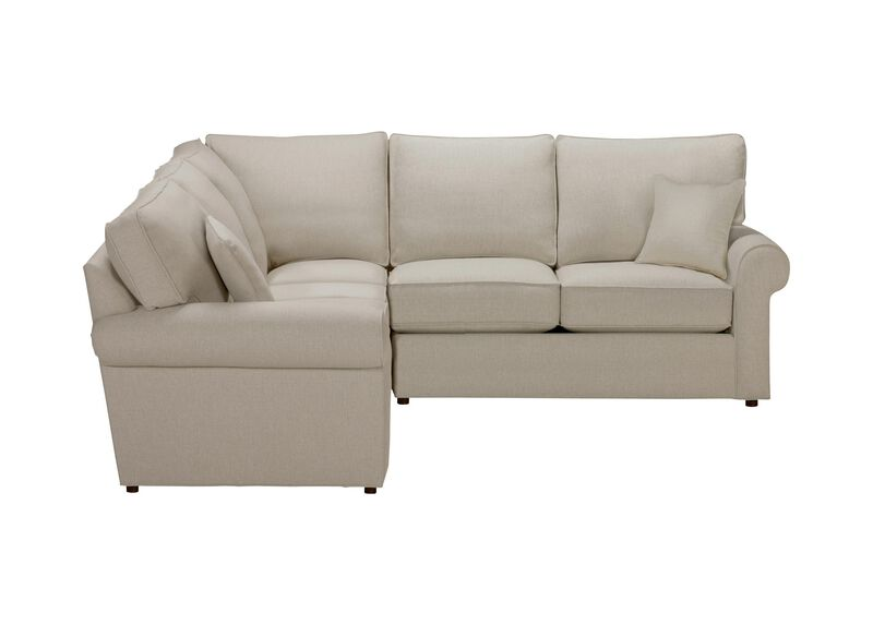 Retreat Roll-Arm Three Piece Sectional, Quick Ship , Hailey Oatmeal (Q1033), solid texture , large_gray