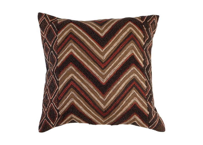 Modern Tribal Chevron Pillow ,  , large_gray