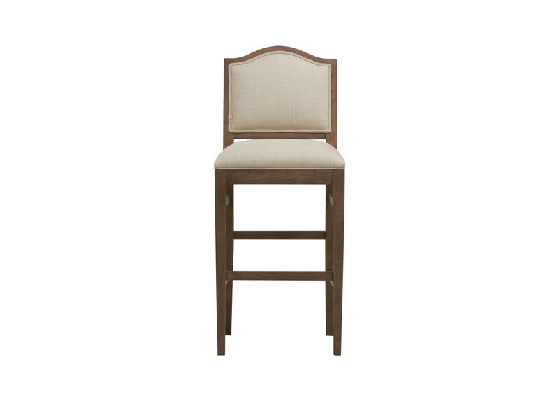 Hayden Barstool, Arched Top and Tapered Leg ,  , large_gray