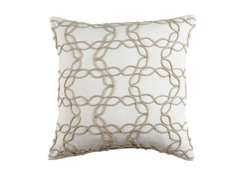 Wavy Jute Pillow, Ivory/Natural ,  , large_gray