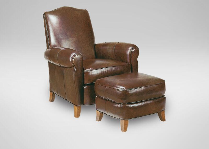 Paloma Leather Ottoman ,  , large_gray