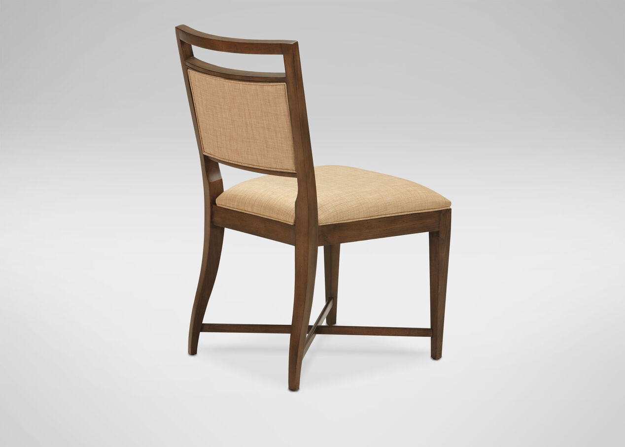 Grady upholstered back side chair ethan allen for Upholstered dining room side chairs