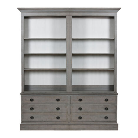 Villa Double File Bookcase , , large - Shop Office Storage & Display Office Cabinets Ethan Allen