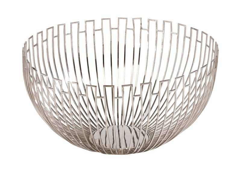 Geometric Wire Bowl ,  , large_gray