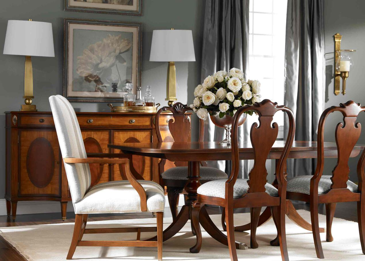Ethan allen dining room furniture - Abbott Dining Table Alt