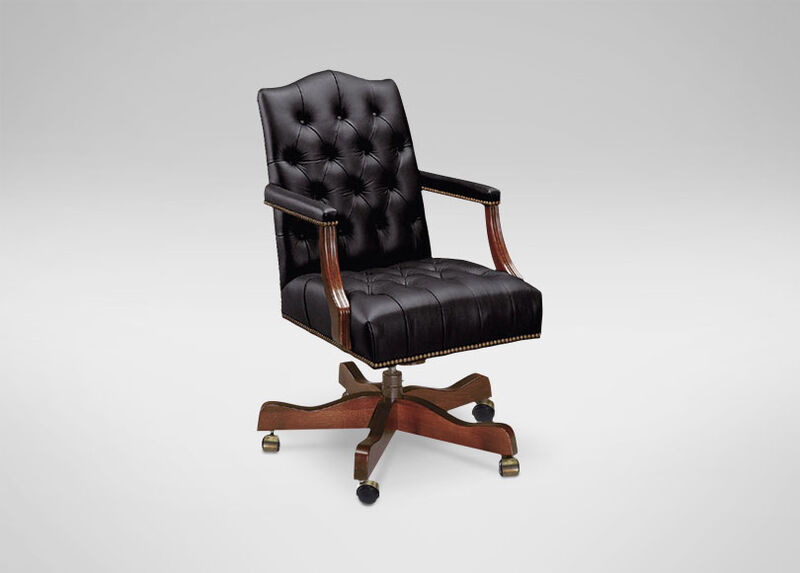 Grant Leather Desk Chair ,  , large_gray