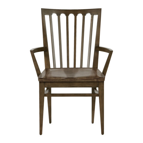 Benham Wood Seat Armchair , , Large  Ethan Allen Dining Room Chairs