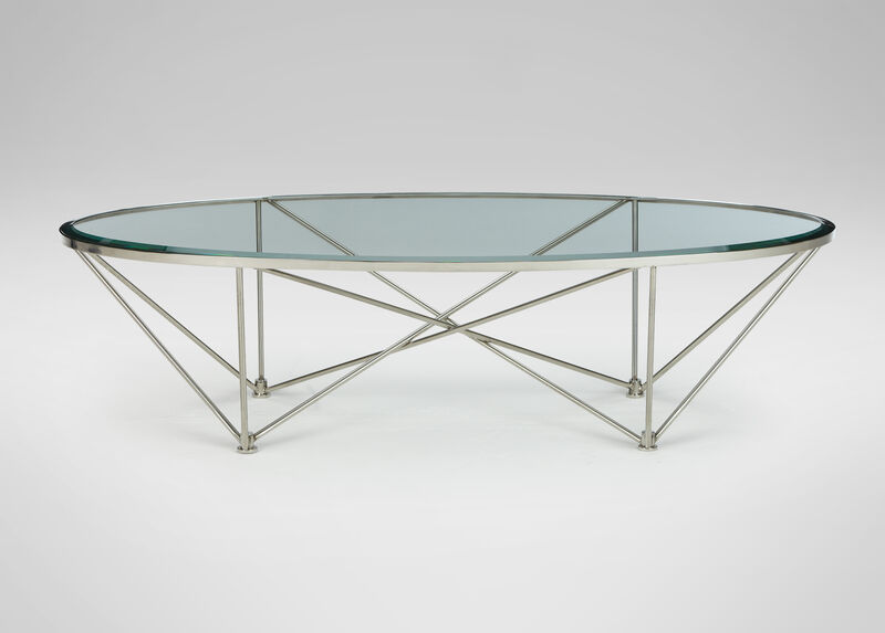 Kestral Oval Coffee Table, Polished Steel ,  , large_gray