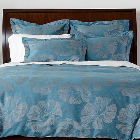 Susana Blue Floral Duvet Cover and Shams ,  , large