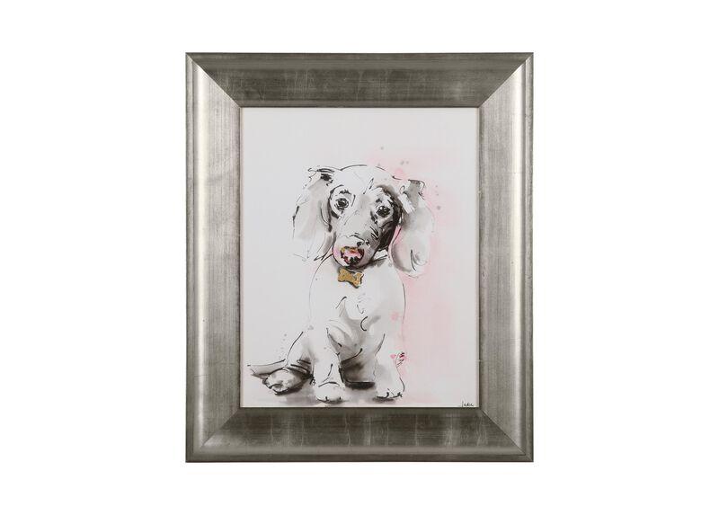 Glamour Dog Sketch VI, Silver ,  , large_gray