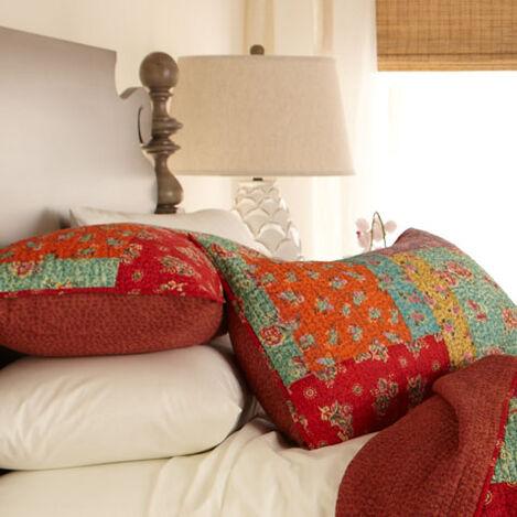 Housse décorative pour oreiller matelassée Tasmine Kantha ,  , large