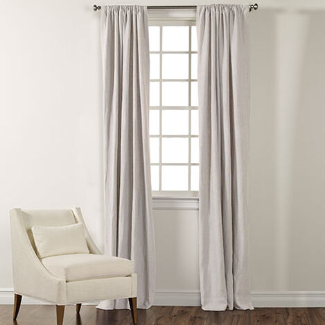 White Sayre Washed Linen Rod Pocket ,  , large