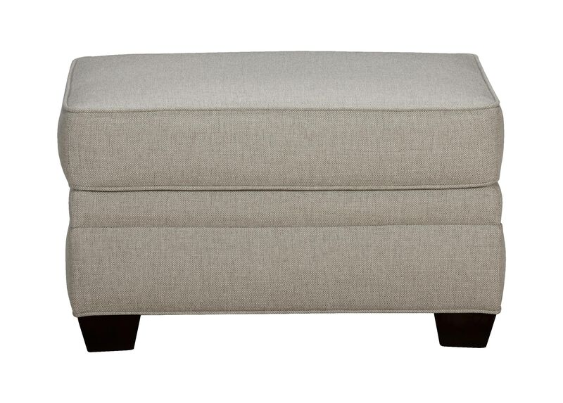 Bennett Ottoman, Quick Ship , Hailey Slate (Q1054), solid texture , large_gray