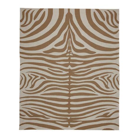 Nova Zebra Rug, Sand/Ivory ,  , large