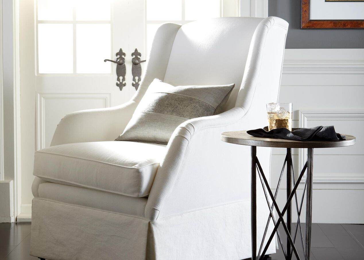 Biscayne wire chairs - Sinclair Skirted Chair Alt