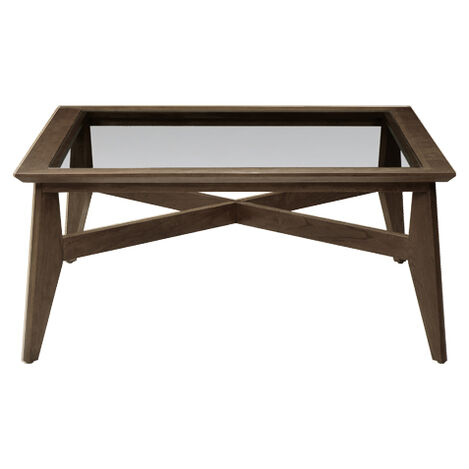 Trevor Glass-Top Coffee Table, Pekoe ,  , large