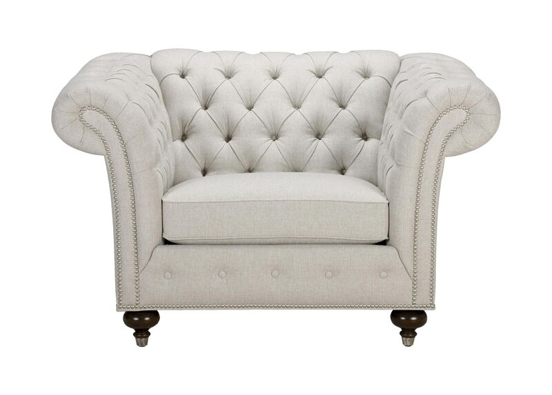 Mansfield Chair, Quick Ship , Hailey Ivory (Q1032), solid texture , large_gray