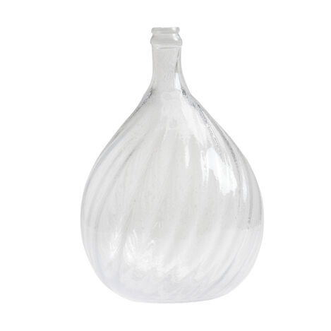 Swirled Demi-John Glass Jar ,  , large