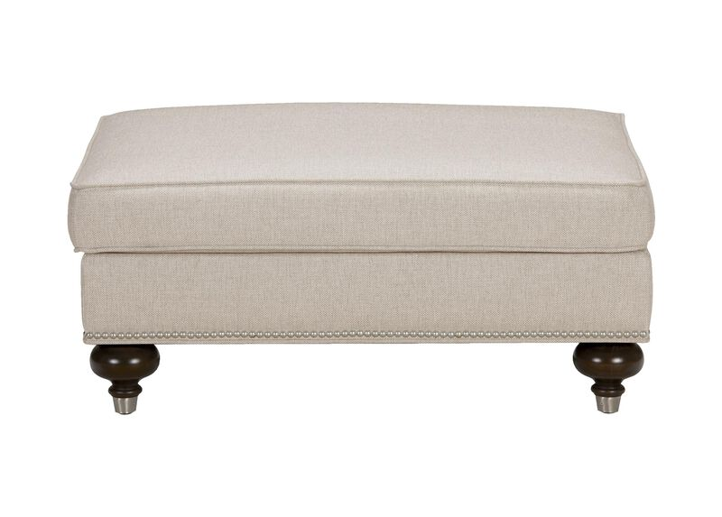 Mansfield Ottoman, Quick Ship , Hailey Oatmeal (Q1033), solid texture , large_gray