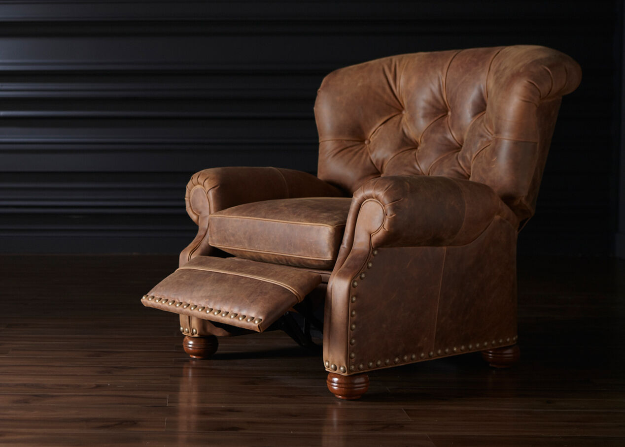 Cromwell Leather Recliner - Ethan Allen