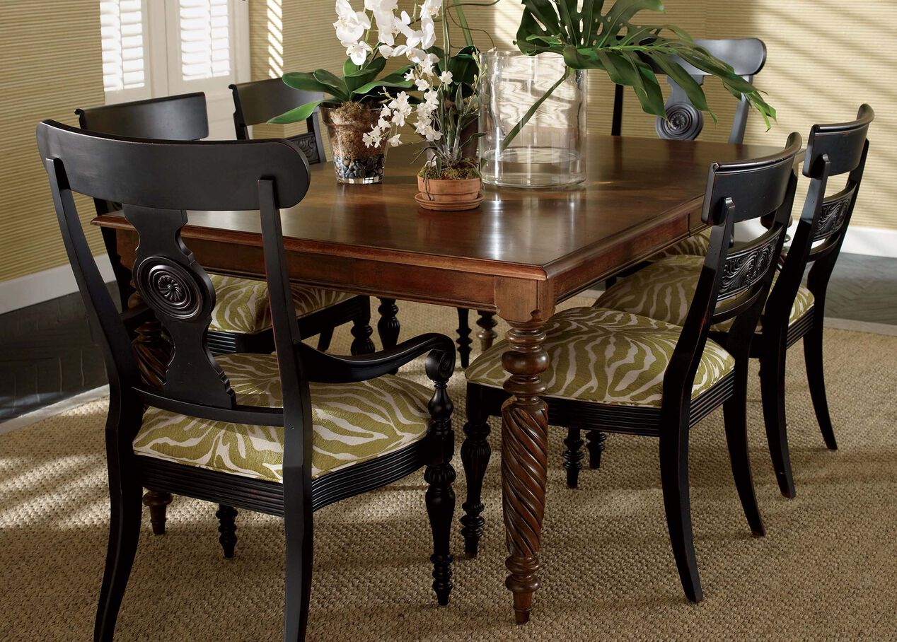 Dorsey Armchair Arm  Host Chairs - Ethan allen dining room chairs