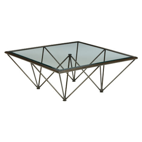 Kestral Square Coffee Table, Vintage Steel ,  , large