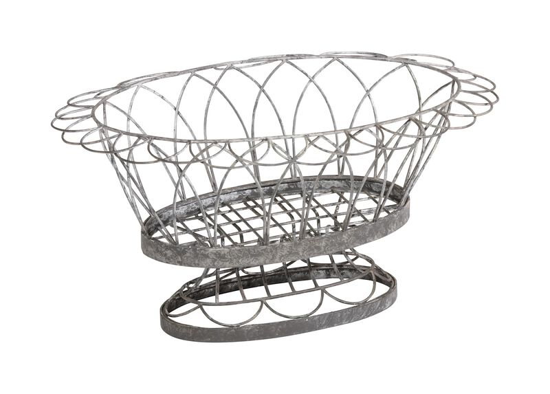 French Wire Oval Planter ,  , large_gray