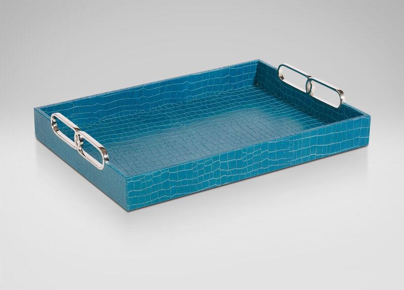 Rectangular Turquoise Tray ,  , large_gray