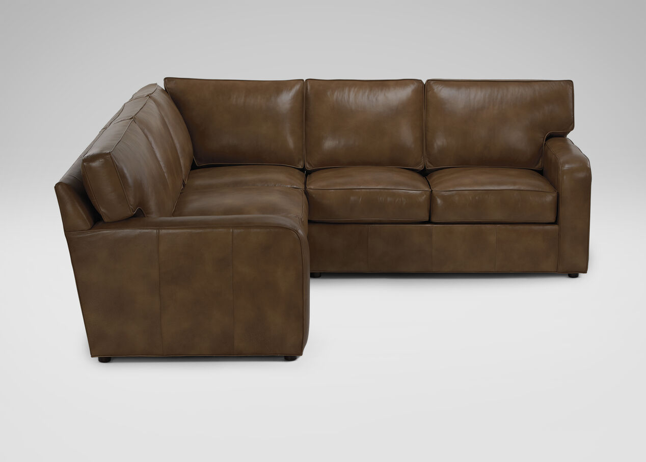 Retreat Track Arm Leather Sectional Sectionals