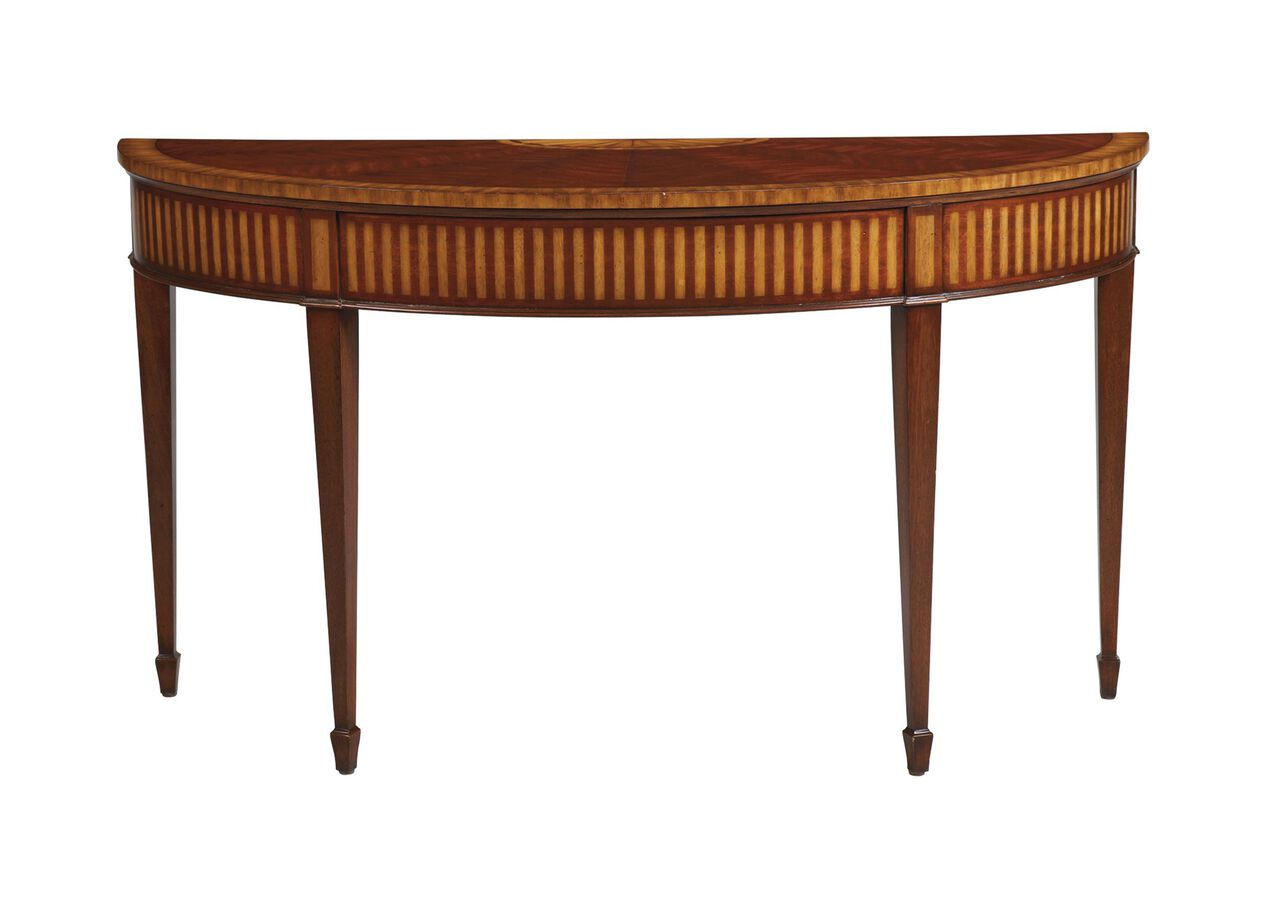 Newman demilune sofa table console tables for Sofa table vs console table