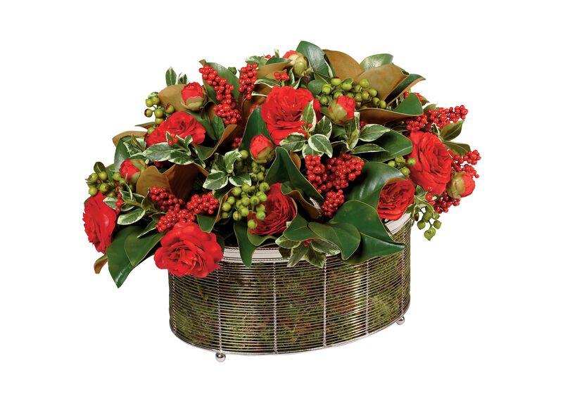 Seasonal Mix in Wire Basket ,  , large_gray