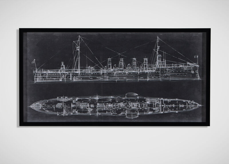 Navy Cruiser Blueprint ,  , large_gray