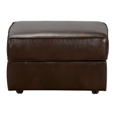 Retreat Roll-Arm Leather Ottoman, Quick Ship ,  , large