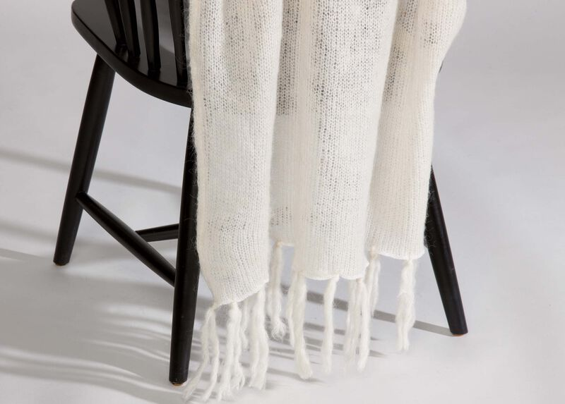 Ivory Mohair Throw ,  , large_gray