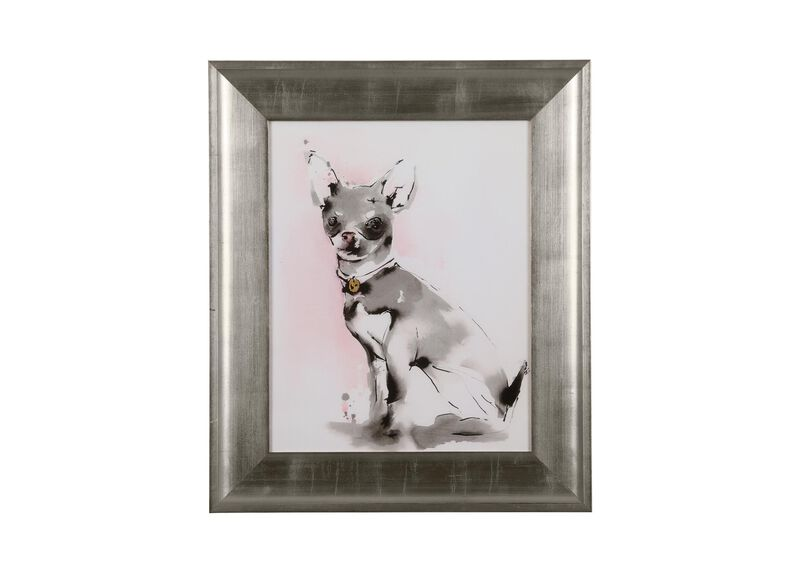 Glamour Dog Sketch III, Silver ,  , large_gray