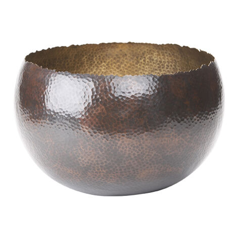 Large Dark Bronze and Brass Bowl ,  , large