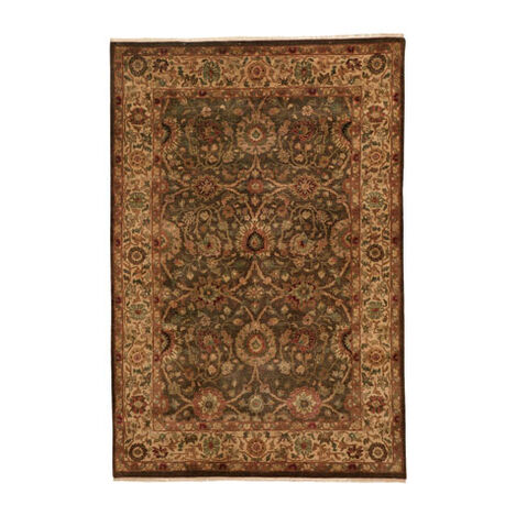 Agra Rug, Brown/Gold ,  , large