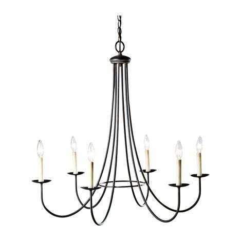 Six Light Iron Chandelier ,  , large