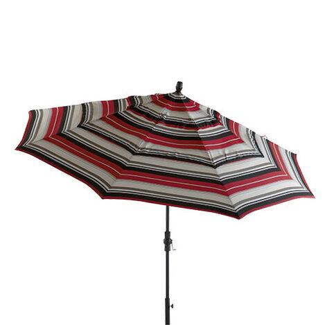Crimson Stripe Round Market Umbrella ,  , large